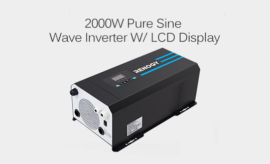 2000W PURE SINE WAVE INVERTER W/ LCD DISPLAY